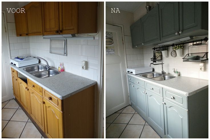 Keuken Pimpen Voor En Na : Eiken Keukens op Pinterest – Kasten, Hoosier Kabinet en Keukenkasten