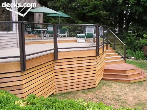 horizontal 1x3s for a screen under the deck.  clean, calm, simple