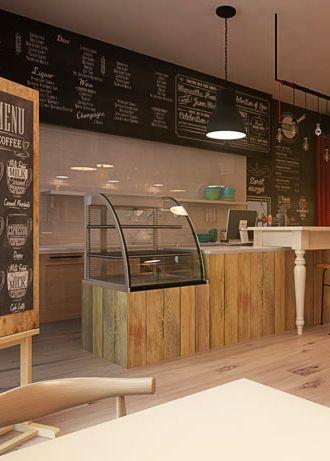 Pancake restaurant design in Zabrze POLAND - archi group.  Naleśnikarnia w Zabrzu.
