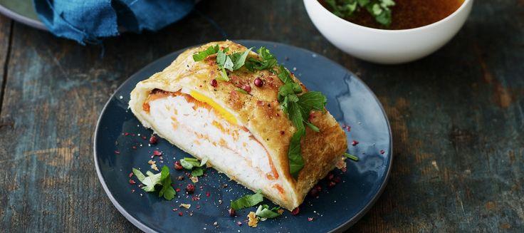 Kylmäsavulohipiirakka ja hörppyliemi | Suolaiset leivonnaiset | Reseptit – K-Ruoka