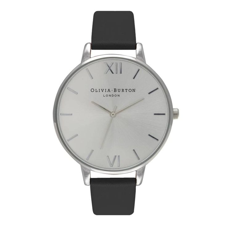 Zilver horloge met zwarte band. Dit horloge van Olivia Burton heeft een vintage feel, is chic en gemakkelijk te combineren. Olivia Burton mengt vintage stijl met de nieuwste trends, shop in de Glamour Concept Store. Veilig betalen.