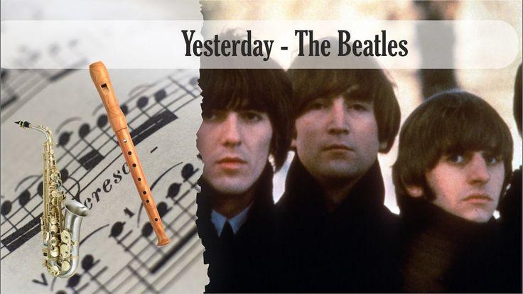 Partitura Yesterday - The Beatles Saxofón Alto y Flauta Dulce