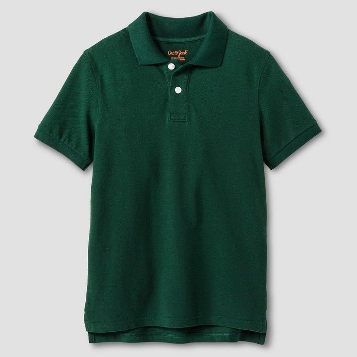 Boys' Pique Polo - Cat & Jack, Boy's, Size: Medium, Green