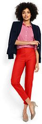 Lands' End Women's Tall Mid Rise Bi Stretch Capri Pants-Sweet Persimmon