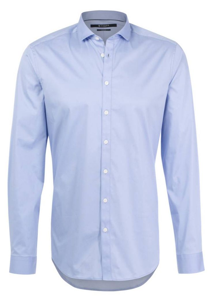 Tiger of Sweden. STEEL SLIM FIT - Camicia elegante - blue. Avvertenze:Lavaggio a macchina a 40 gradi,Non asciugare in asciugatrice. Lunghezza delle maniche:67 cm nella taglia 40. Composizione:63% cotone, 32% Poliammide, 5% elastan. Lunghezza totale:78 cm n...