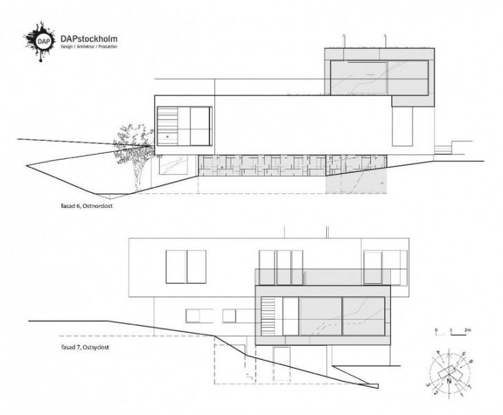 Elevation Plan Scale : Exciting house elevation plan with scale and wind