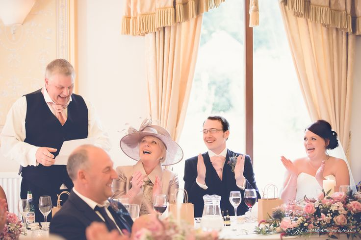 The traditional best man's speech during the wedding reception