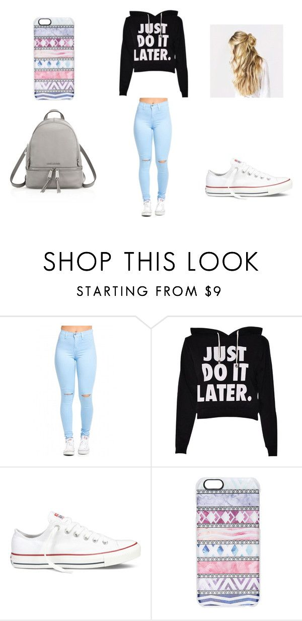 How To Wear School By Aislinnmcaloon On Polyvore Featuring Converse Casetify Michael Michael Kors Womens Clothing Women Female