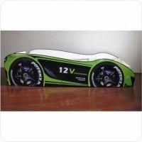 Pat copii masina Champion verde