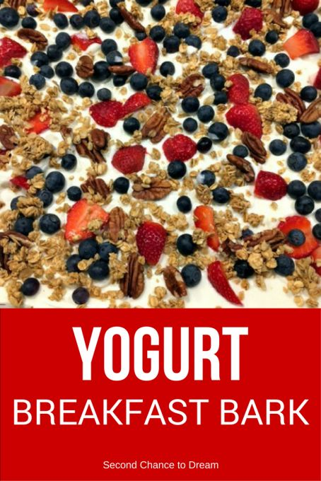 If you need a grab & go breakfast recipe that's quick & easy to make, then you need to come see how I made this simple Yogurt Breakfast Bark.