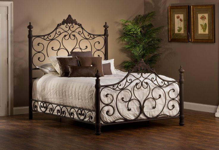 Amazon.com - Hillsdale Baremore Bed in Antique Brown - King - Bed Frames
