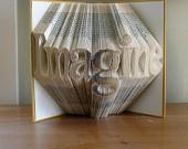 Monogrammed Gifts - Handmade - Gifts for Men - Gift for Her -  Gift for Boss - Custom -  Folded Book Sculpture -. $75.00, via Etsy.