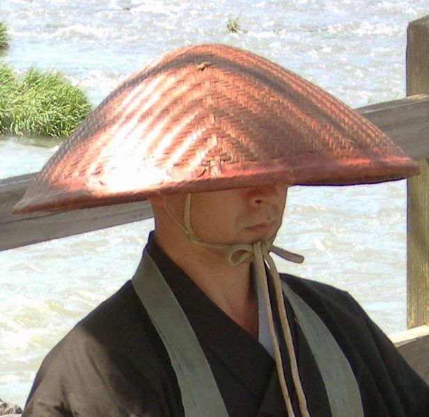 Traditional Japanese Straw Kasa Hat Samurai Clothing