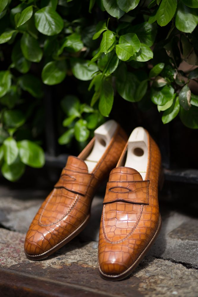 Croc Penny  Saint Crispin's Trunk Show today and tomorrow at The Armoury NYC