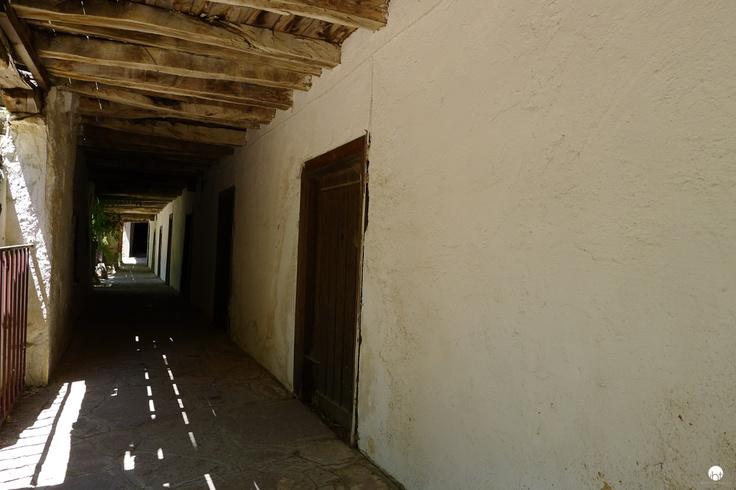 Limonos Abbey corridor at Lesvos Greece inspiredbytraveling.com