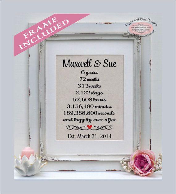 6 Yr Wedding Anniversary Gifts: 6 Year Anniversary Gift Sixth Anniversary By