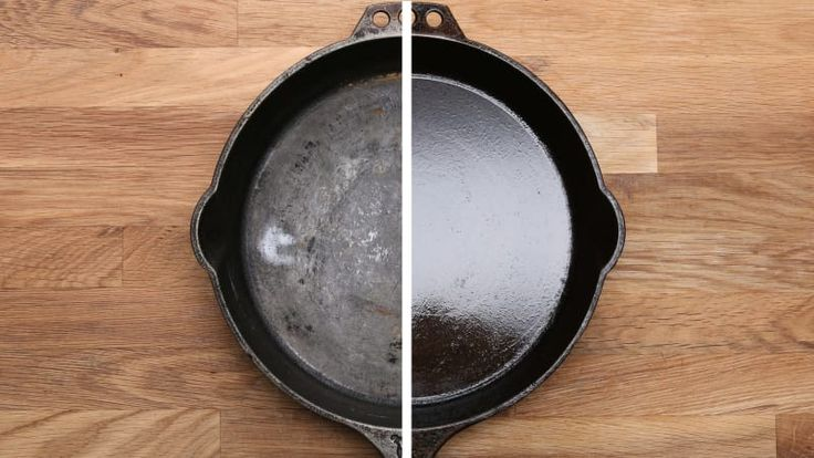 Seasoning will give you that hard, glassy layer that protects your skillet and makes it nonstick. The more you do this, the better and more effective the seasoning of your pan will get.For regular maintenance, do this process at least twice a year. If this is the first time you're seasoning your skillet, it's best to do this process twice in a row. If this isn't your first time seasoning, skip steps 1 and 2 and just start with adding a thin layer of oil and heating it past the smoking point…