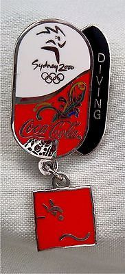 Pin coco cola #pictogram dangler  - #diving  - #sydney 2000 olympic -rare ,  View more on the LINK: http://www.zeppy.io/product/gb/2/281786184698/