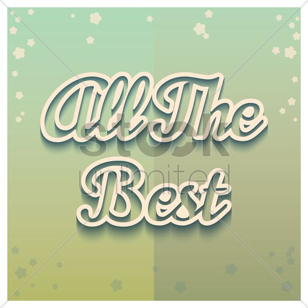 all the best greeting vector graphic