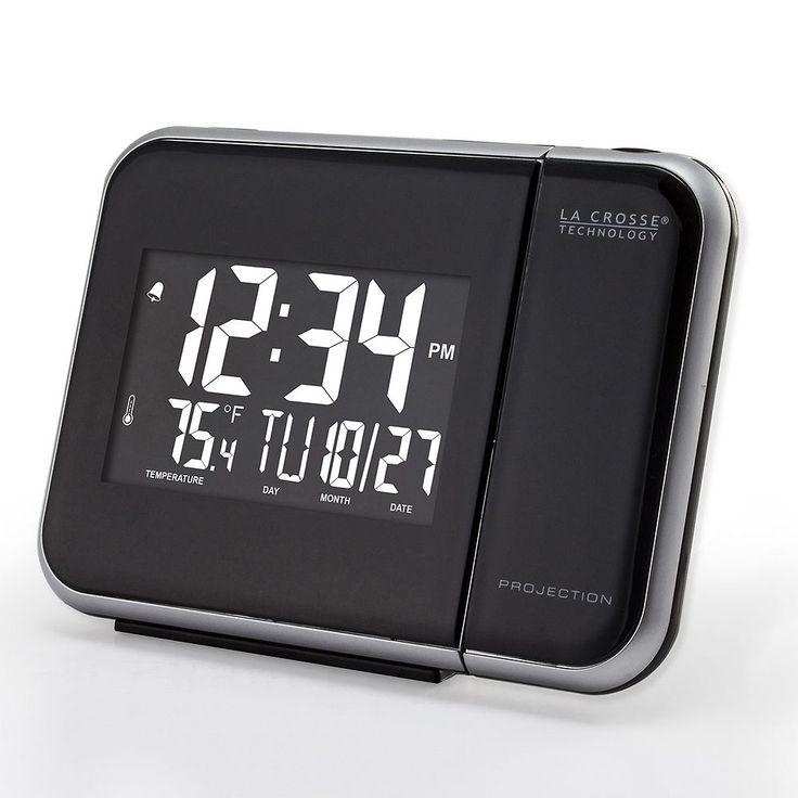 La Crosse Technology Projection Alarm Clock, Black