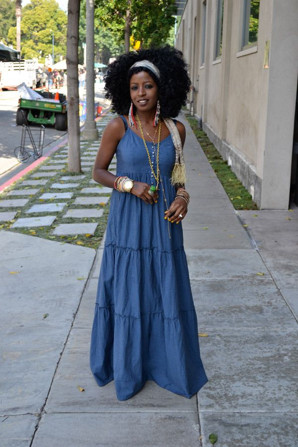 Denim Maxi Dresses