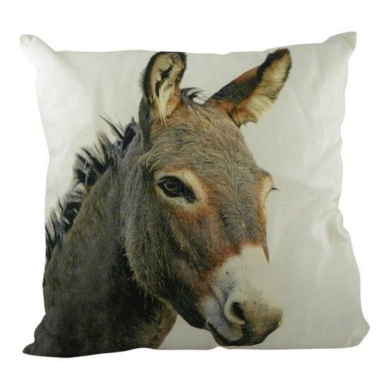 kussen canvas ezel grijs