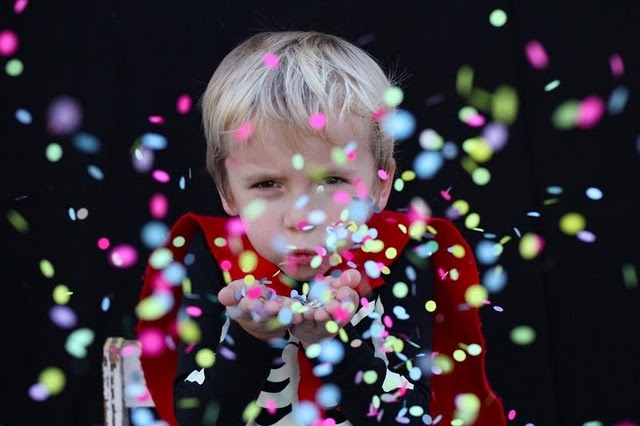 Confetti Photo......do this with kids