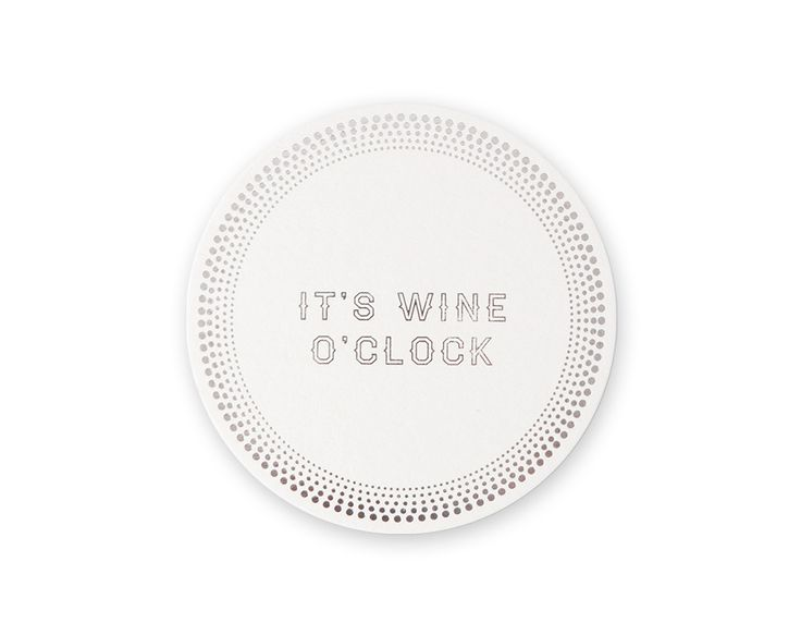 """GLAM Coaster """"It's wine o'clock""""   set the mood without trying too hard with this gorgeous glam drink coaster! x #coasters #hostess"""