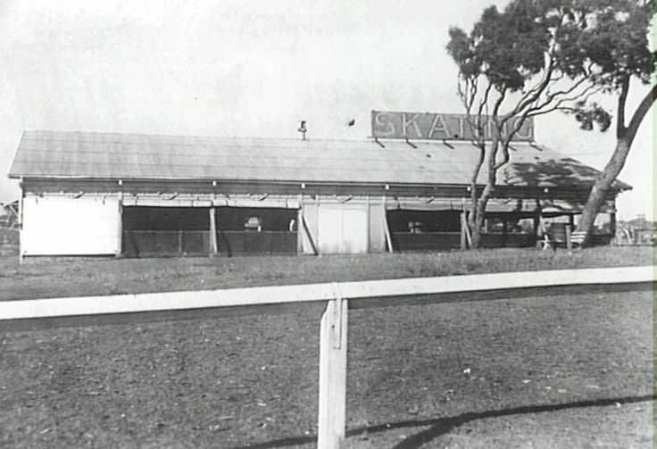 The skating rink at Redcliffe was opened in December, 1938 and eventually demolished in 1985. Note roll-up canvas sides.