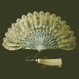 Queen Victoria's birthday fan. Presented by Prince Albert to Queen Victoria on her thirty-ninth birthday, 24 May 1858
