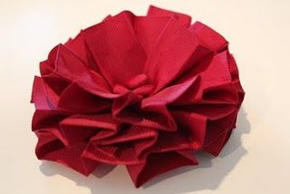 ribbon flower tutorial