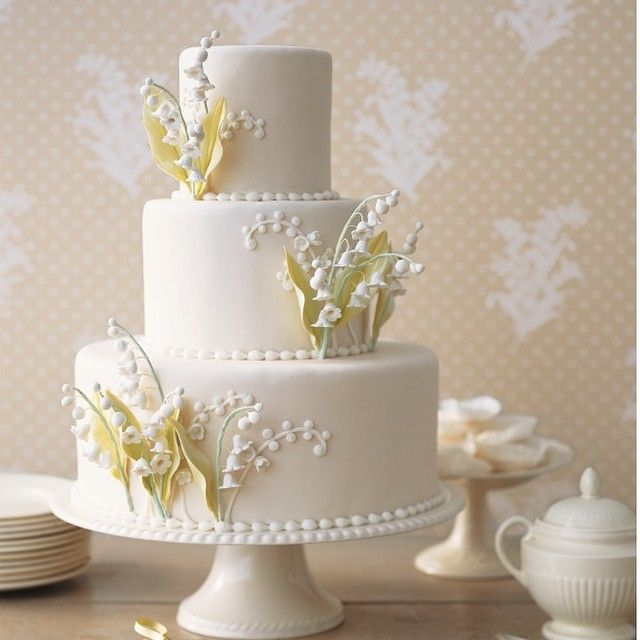 "Continuing the #retrospective of our ""20 Years of Cakes"" for @martha_weddings in the current Fall issue and online - This #cake with #sugar #lily-if-the-valley was published in Spring 2003"