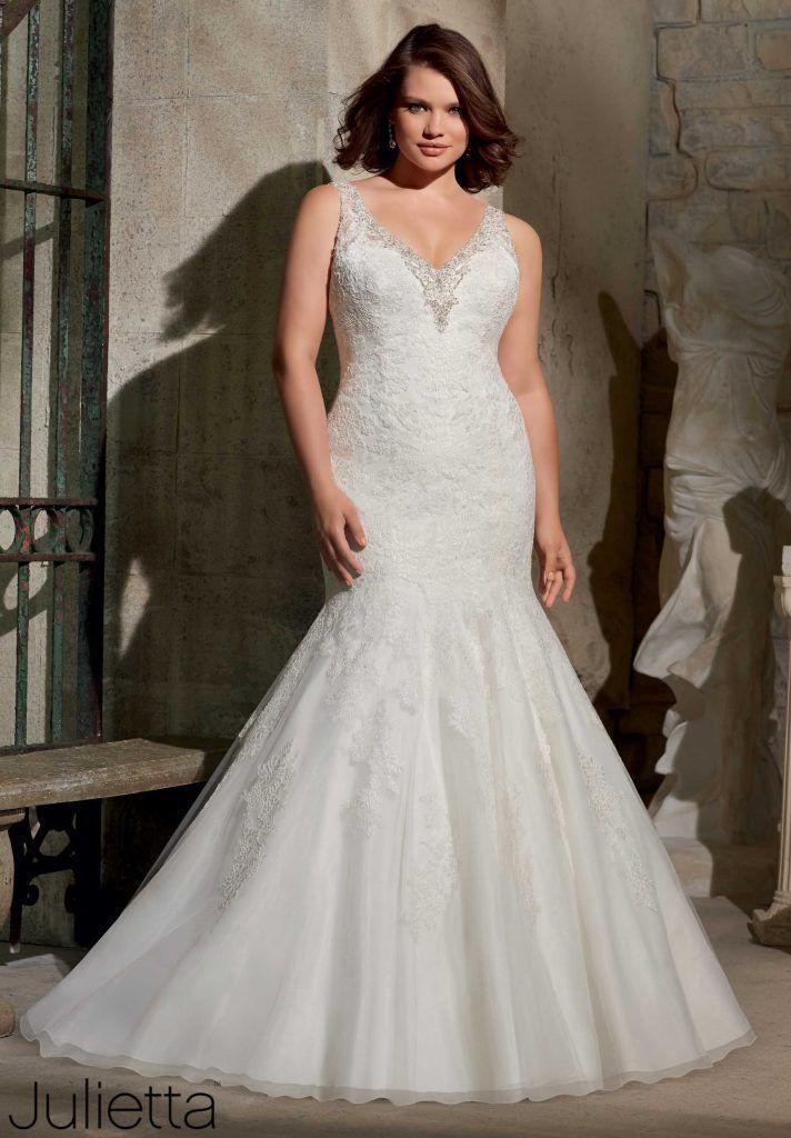 vestido de novia corte sirena con campana para gorditas | boda yenny