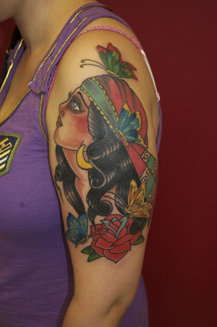 ... About Traditional Gypsy Tattoos On Pinterest Gypsy - 736x1108 - jpeg