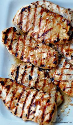 Best Grilled Chicken Marinade (cider vinegar, dijon mustard, garlic, lime and lemon juice, brown sugar, olive  oil)