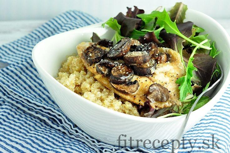 Pečená tilapia s hubami a quinoou - FitRecepty