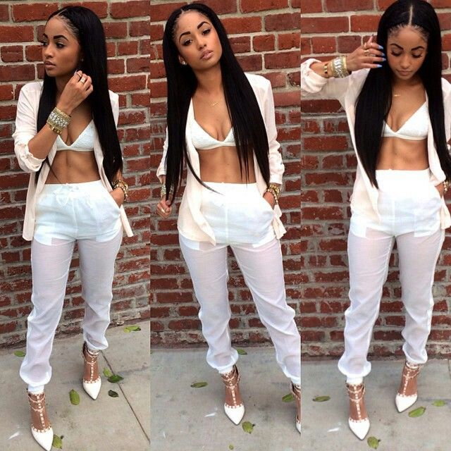 Kayla Phillips All White Pretty Girl Swag Dope Urban Streetwear Fashion Style Trend