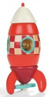 A cleverly designed and versatile wooden toy that is both a puzzle and play item, Janod's five-piece wooden rocket puzzle is set to take your toddlers' motor skills to new heights.