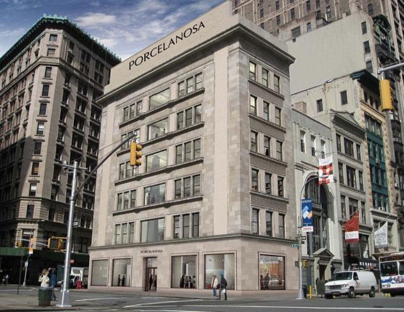 Foster + Partners (Norman Foster) ontwerpt nieuwe showroom (2000m2) Porcelansa op 5th Avenue New York