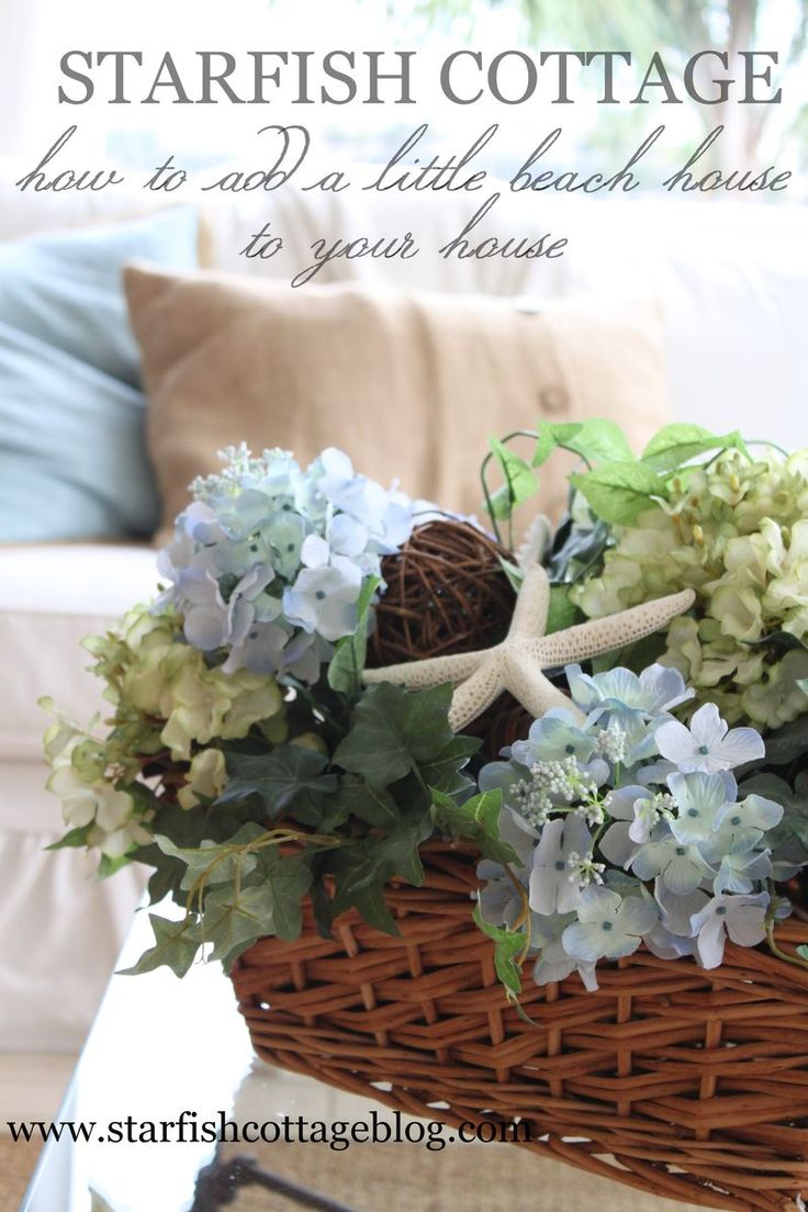 How to add a little beach house to your house... www.starfishcottageblog.com