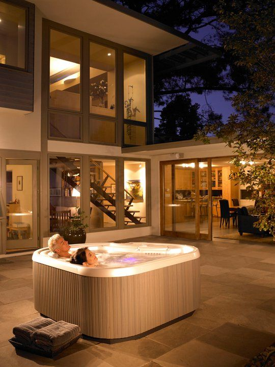 Wind Down At Night With A #HotSpringSpas Hot Tub U2014 Itu0027s A Natural Way To