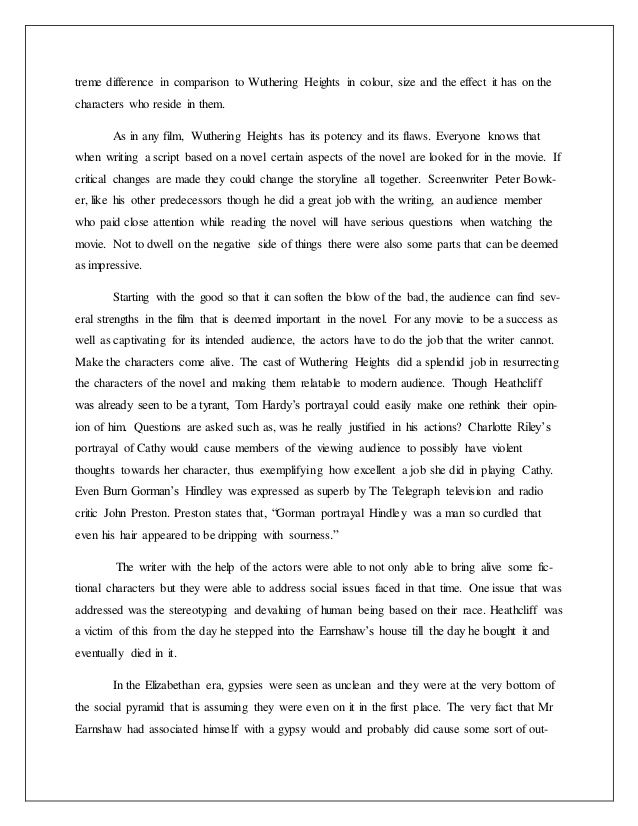 Narrative Writing Essay Examples Examine Why The First Critics Of Wuthering Heights Thought The Educational And Professional Goals Essay also Respect For Life Essay  Best Weathering Heights Images On Pinterest  Wuthering Heights  A Descriptive Essay On The Beach