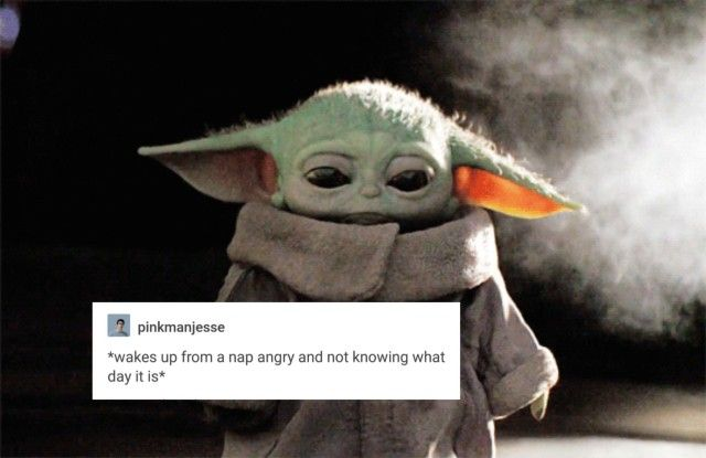 Baby Yoda Tumblr Star Wars Memes Sleep Meme Disney Plus