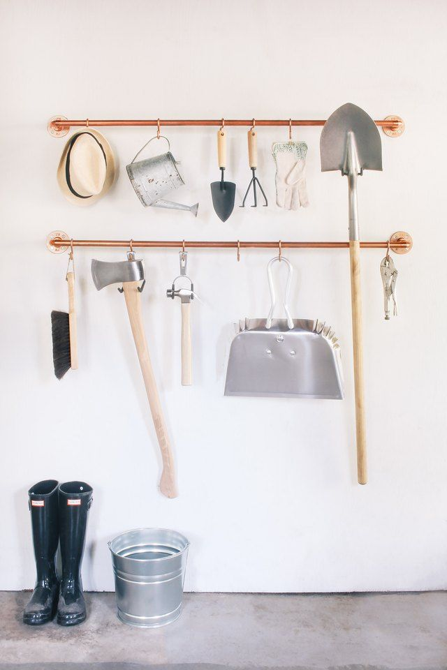 Your Garage Needs This DIY Copper Pipe Tool Organizer | For