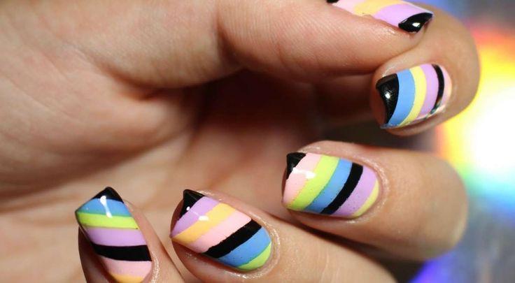 manicure-righe-diagonali-colorate.jpg (1200×661)