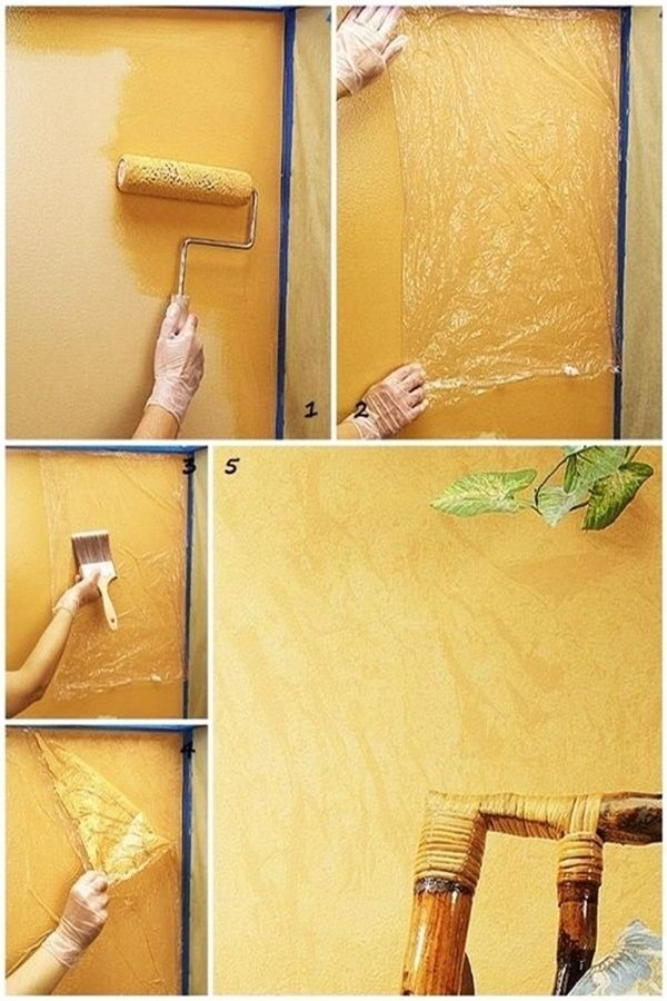 40 Diy Plastic Bag Recycling Projects Diy Wall Painting Diy Interior Wall Painting Techniques