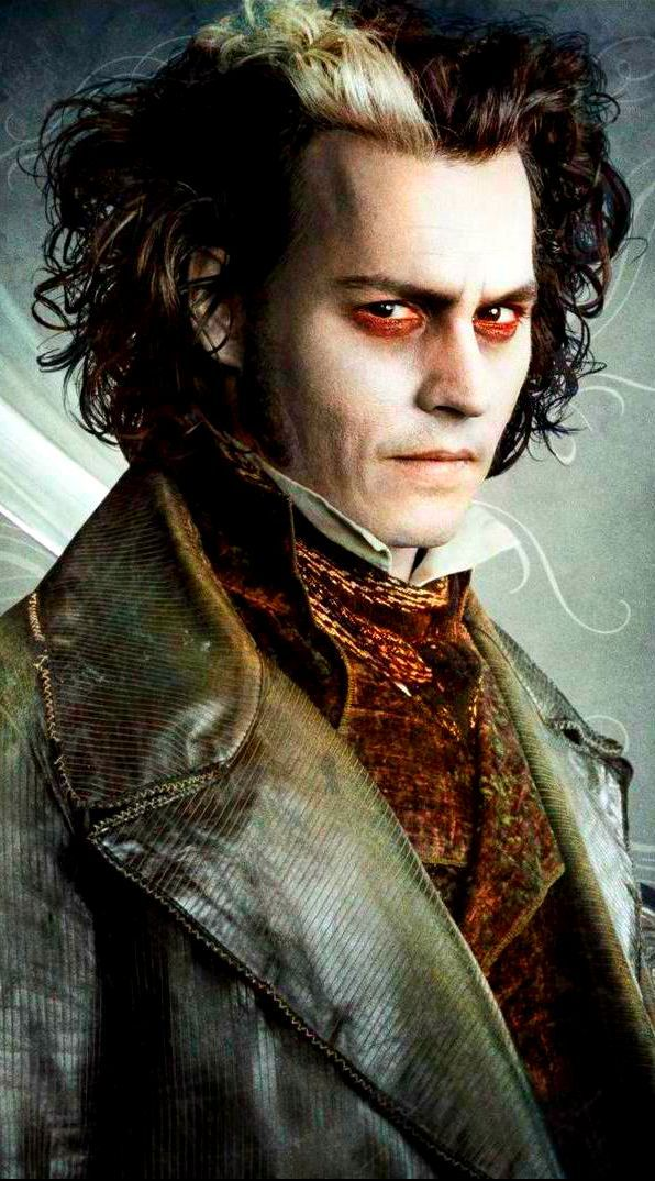 Johnny Depp as Sweeny Todd in Sweeny Todd: The Demon Barber of Fleet Street (good makeup reference)