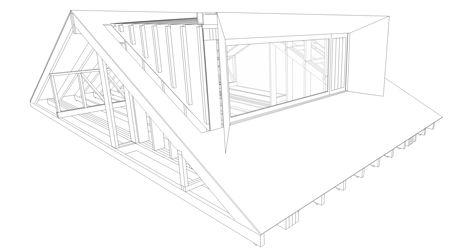 Axonometric dormer detail of Zinc-clad loft extension by Konishi Gaffney creates an extra bedroom