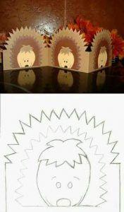 paper hedgehog, lampion egel, hedgehog hat, clip art,  (1)