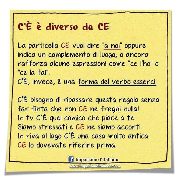 C'È è diverso da CE  #impariamoitaliano  #learnitalian #learningitalian #italianvocabulary #studyitalian #linguaitaliana #languages #parliamoitaliano #italianlanguage #languagelearning #italianol2 #aprenderitaliano #speakitalian #italianonline #italianlessons #italianteacher #italianopertutti #italianoperstranieri #italianquiz